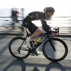 Ed Clancy on the seafront